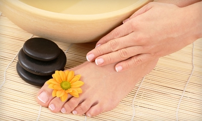 Anthony DeFranco Salon and Spa - Huntington Station: Hot-Stone Manicure and Pedicure at Anthony DeFranco Salon and Spa in Huntington Station ($80 Value)