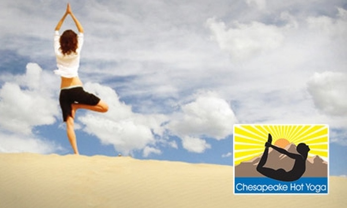 Chesapeake Hot Yoga - Greenbrier East: $25 for a 10-Class Pass at Chesapeake Hot Yoga ($180 Value)