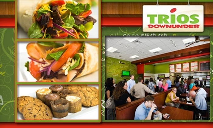 Trios Downunder - Westchase: $10 for $20 Worth of Healthy Wraps, Salads, Spuds, and More at Trios Downunder