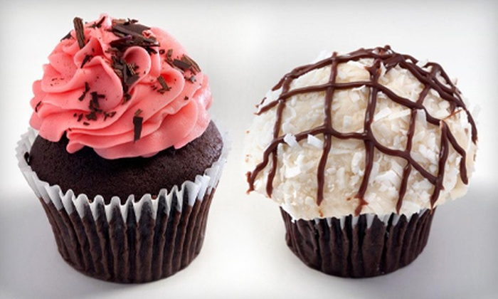 Big City Cupcakes - Edmonton: $7 for a Treat Package with Four-Pack of Premium Cupcakes and One Milkshake at Big City Cupcakes ($14 Value)