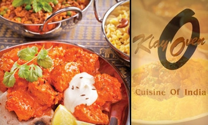 Klay Oven - Multiple Locations: $20 for $40 Worth of Indian Cuisine and Drink at Klay Oven Restaurant