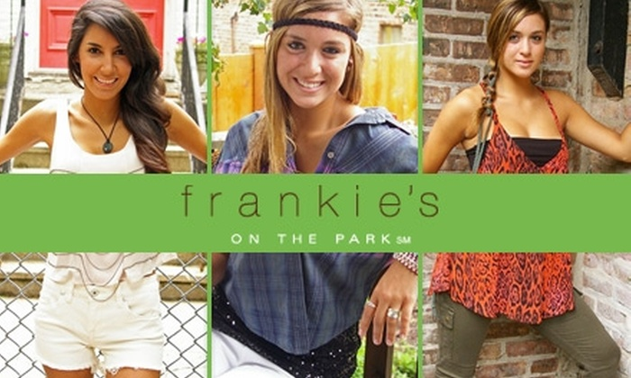 Frankie's on the Park - Jacksonville: $25 for $50 Worth of Clothing and Merchandise at Frankie's on the Park