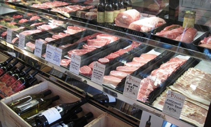 The Artisan Gourmet Market - Asheville: Fresh Meat, Seafood, Deli Fare, and Coffee at The Artisan Gourmet Market in Black Mountain. Choose Between Two Options.