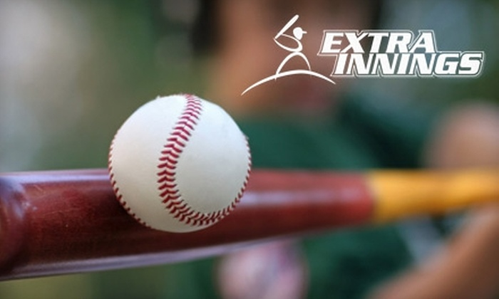 Extra Innings - Woburn: $20 for Hitting-Tunnel Rental ($40 Value) or $75 for Five-Day Baseball-Skills Clinic ($150 Value) at Extra Innings in Woburn