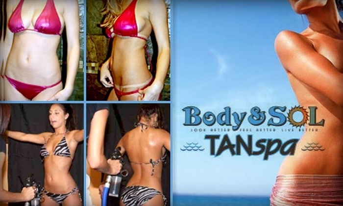 Body and Sol TANspa - St. Louis Park: $25 for Two Custom Spray Tans at Body and Sol TANspa
