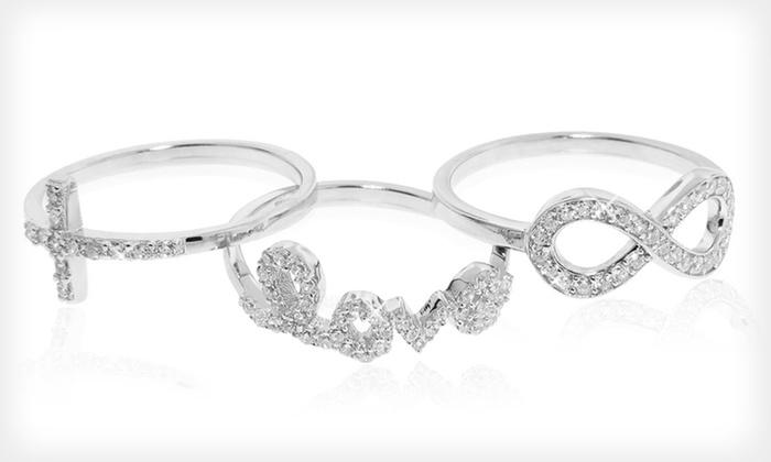 Sterling-Silver and CZ Rings: $18.99 for a Sterling-Silver Cubic Zirconia Ring ($49.99 List Price). 45 Options Available. Free Shipping and Returns.