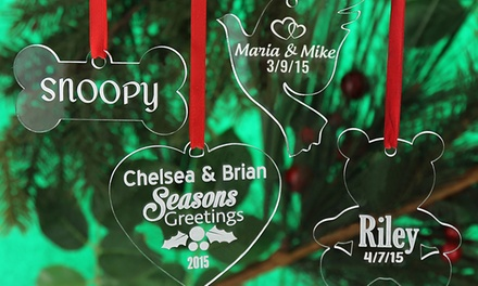 Personalized Acrylic Christmas Ornaments