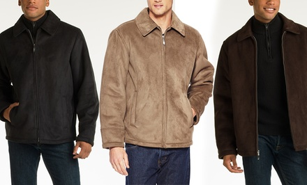 Perry Ellis Men's Faux-Shearling Open Bottom Jacket. Multiple Colors Available.