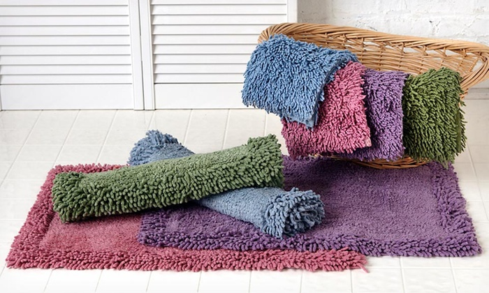 Up To 63% Off Home Weavers Luxury Shag Bath Rug Sets ...
