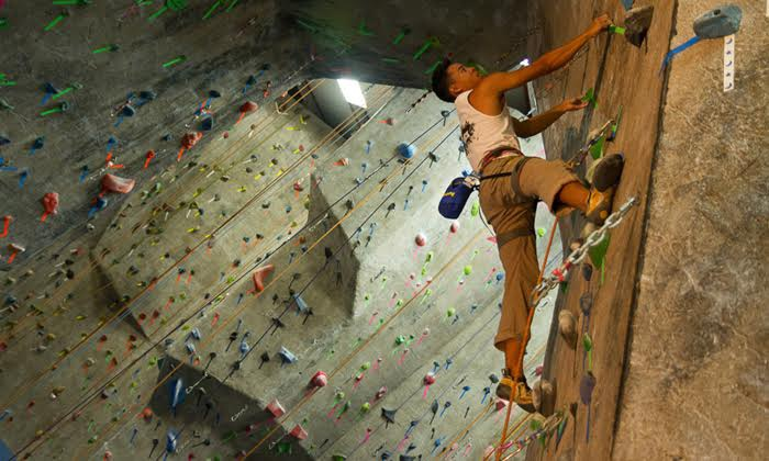 The Rock Club - New Rochelle: Intro Rock-Climbing Class and One Month of Unlimited Climbs at The Rock Club (Up to 79% Off)