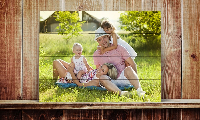 ImageCom.com: Photos on Distressed Wood Slats from ImageCom.com (Up to 67% Off). Four Options Available.
