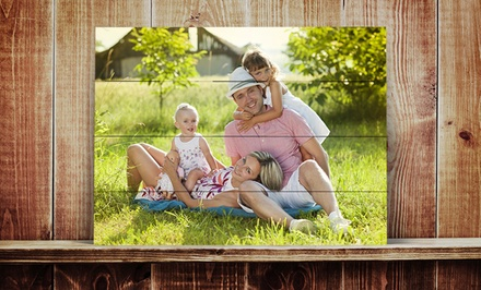 Photos on Distressed Wood Slats from ImageCom.com (Up to 67% Off). Four Options Available.