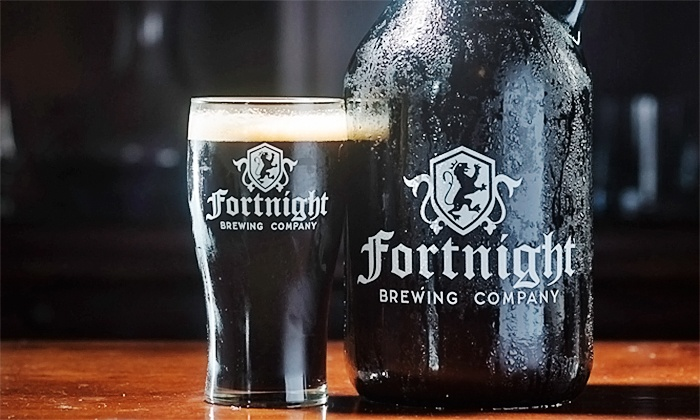 Fortnight Brewing Company - Carystone Townhomes: Brewery Tour, Souvenir Pint Glasses, Pints, and 6-Packs for One or Two at Fortnight Brewing Company (50% Off)