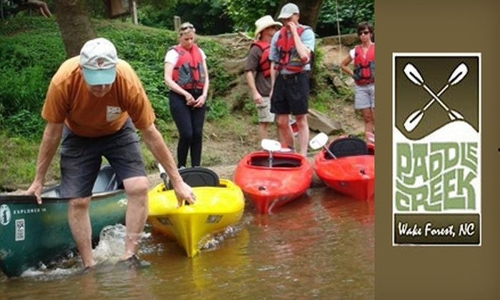 Paddle Creek - North Raleigh: $29 for $58 Toward a Canoe Adventure at Paddle Creek