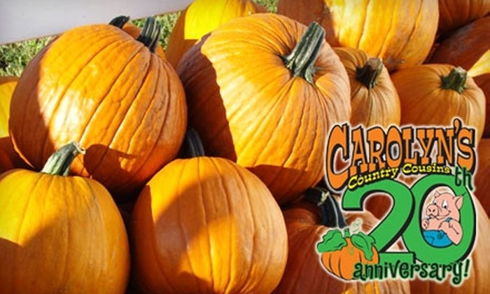 Carolyn's Country Cousins Pumpkin Patch - Liberty: $15 for Family Admission to Carolyn's Country Cousins Pumpkin Patch ($30 Value)