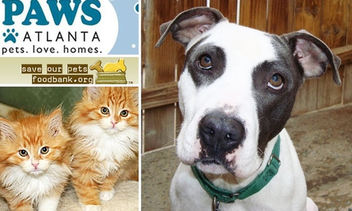 Save Our Pets Foodbank, Life Line Animal Project, PAWS Atlanta - Atlanta: Donate to PAWS Atlanta, Save Our Pets Foodbank, and LifeLine Animal Project