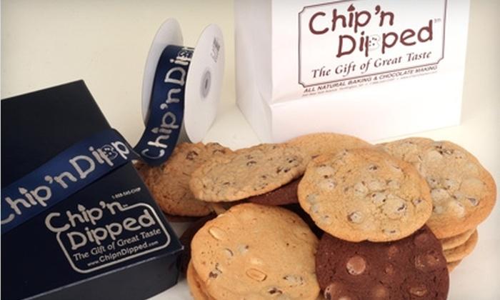 Chip'n Dipped - Huntington: $11 for 12 Fresh Gourmet Cookies at Chip'n Dipped in Huntington