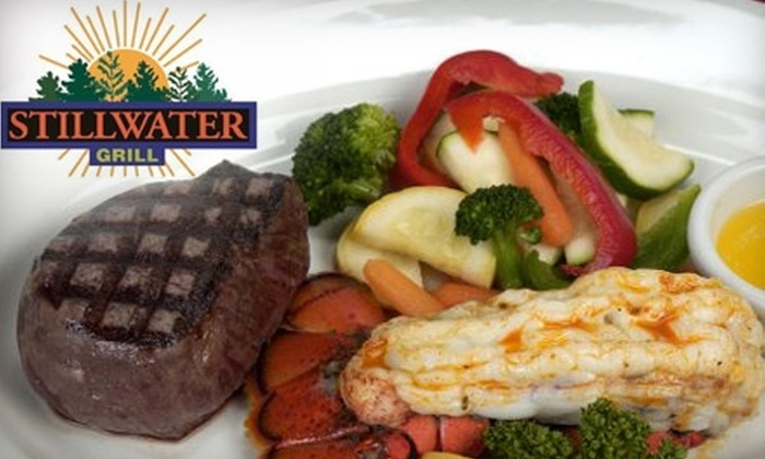 Stillwater Grill - Meridian: $10 for $20 Worth of Surf 'n' Turf Lunch at Stillwater Grill (or $15 for $30 Worth of Dinner)