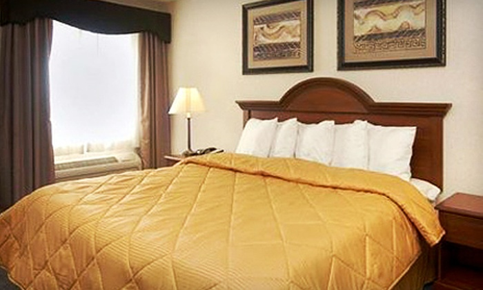Comfort Inn & Suites Dimondale - Lansing: Park-and-Fly Package with One-Night Stay in a Room or Suite with Up to Eight Days of Parking at Comfort Inn & Suites Dimondale (Up to 71% Off)