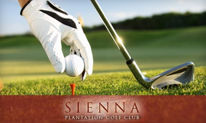 Sienna Plantation Golf Club - Sienna Village Of Waters Lake: $148 for Ten 18-Hole Green Fees and Nine Group Clinics at Sienna Plantation Golf Club ($1,210 Value)
