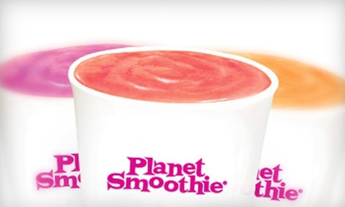 Planet Smoothie - Multiple Locations: $12 for Five Smoothies at Planet Smoothie ($26 Value)