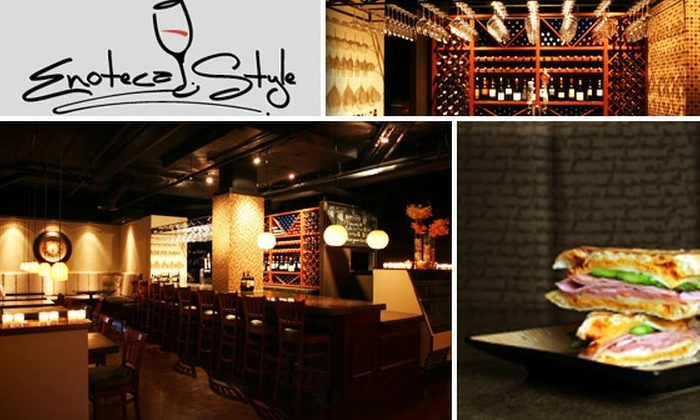 Enoteca Style - Little Italy: $25 for $50 Worth of Food and Drink at Enoteca Style