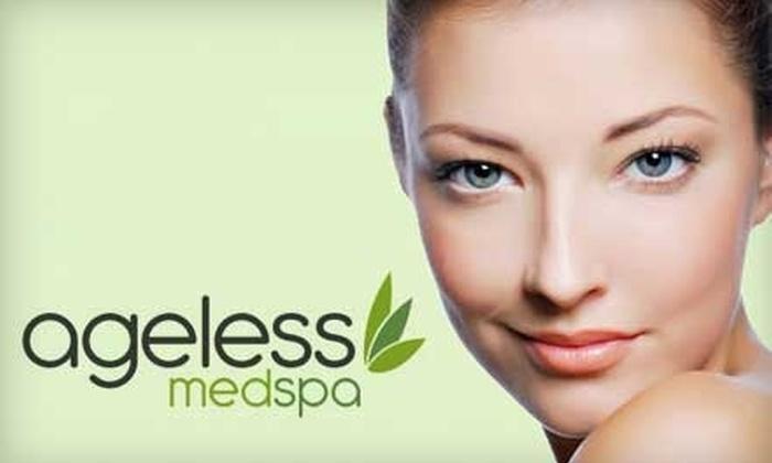Ageless Medspa - Jefferson Park: $35 for a Gold-Infusion Facial ($80 Value) or $55 for a Gold-Infusion Facial Plus LED Light Therapy ($115 Value) at Ageless Medspa