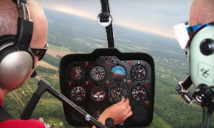 Independence Helicopters - Northeast Philadelphia: $189 for a Fall-Foliage Helicopter Tour for Up to Three People from Independence Helicopters ($450 Value)