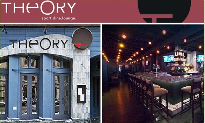 Theory Sports Lounge - Near North Side: $10 for $25 Worth of Fusion Barbecue Fare and Drinks at Theory Sports Lounge