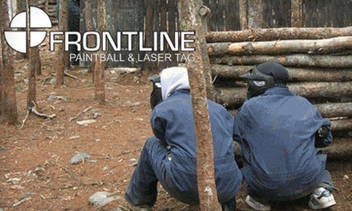 Frontline Paintball & Laser Tag - Multiple Locations: $5 for a Day of Paintball or One Hour of Laser Tag at Frontline Paintball & Laser Tag (Up to $15 Value)