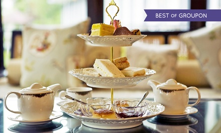 Sparkling Afternoon Tea for Two or Four at Hawkwell House Hotel (34% Off)