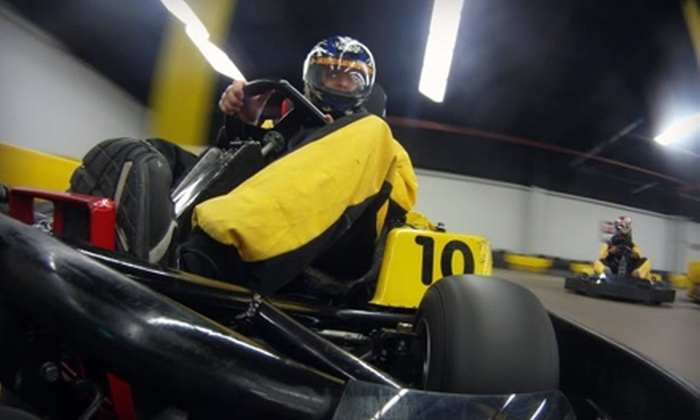 Checkered Flag Indoor Karting - Haverhill: $12 for a Two-Race Go-Kart Pass at Checkered Flag Indoor Karting in Haverhill ($25 Value)