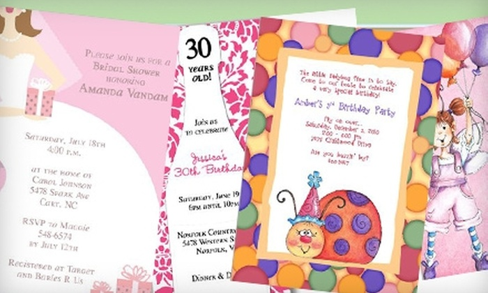 Retro Whimsy Designs: $15 for $30 Worth of Custom Invitations, Stationery, and Party Favors from Retro Whimsy Designs