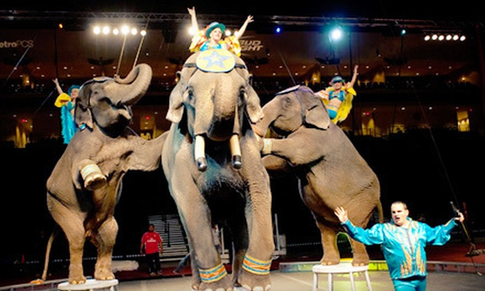 2012 Hella Shrine Circus - Multiple Locations: Four Tickets to 2012 Hella Shrine Circus in Dallas or Garland (Up to Half Off). 14 Options Available.