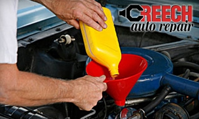 Creech Import Repair - North Hills: $45 for an Oil Change, Tire Rotation, and NC State Emissions Inspection at Creech Import Repair