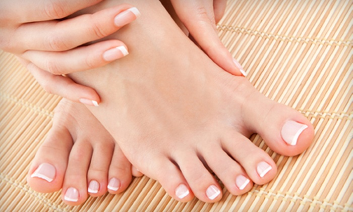 Holt Hair & Nails - Waverly: Spa Mani-Pedi or Haircut with Conditioning Treatment and Brow, Lip, or Chin Wax at Holt Hair & Nails (Up to 53% Off)