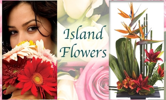 Island Flowers - Historic Ybor: $20 for $45 Worth of Custom Flower Arrangements From Island Flowers
