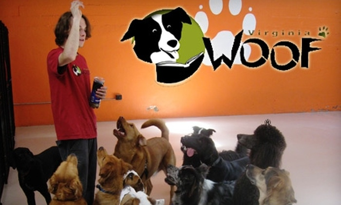 Virginia Woof Dog Daycare - Multiple Locations: $60 for Five Full Days of Dog Daycare at Virginia Woof Dog Daycare ($120 Value)