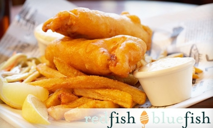 Red Fish Blue Fish - Downtown: $8 for $16 Worth of Sustainable Fish and Chips, Drinks, and More at Red Fish Blue Fish