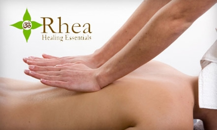Rhea Healing Essentials - Greenwood: $105 for Three 60-Minute Massages or Three 60-Minute Reiki Treatments at Rhea Healing Essentials