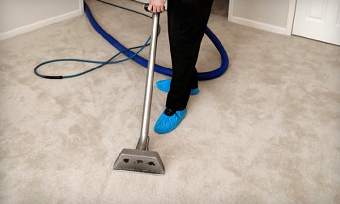 Turbo Steamer Carpet Cleaner - Downtown Portland: In-Home Carpet Cleaning for Three or Five Rooms and One Hallway from Turbo Steamer Carpet Cleaner (Up to 58% Off)