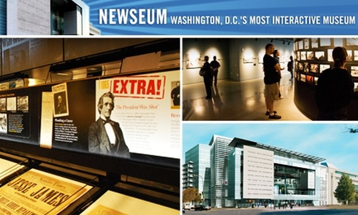Newseum - Downtown - Penn Quarter - Chinatown: $10 for One General Admission Ticket to the Newseum ($19.95 Value)