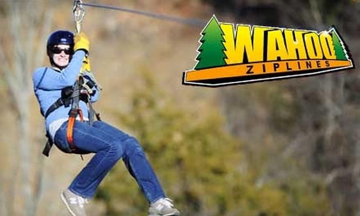 Wahoo Ziplines - Sevierville: $45 for a Zip Line Tour with Wahoo Ziplines ($89 Value)