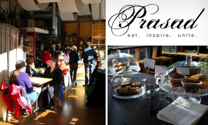 Prasad - Pearl: $6 for $12 Worth of Healthy Eats at Prasad