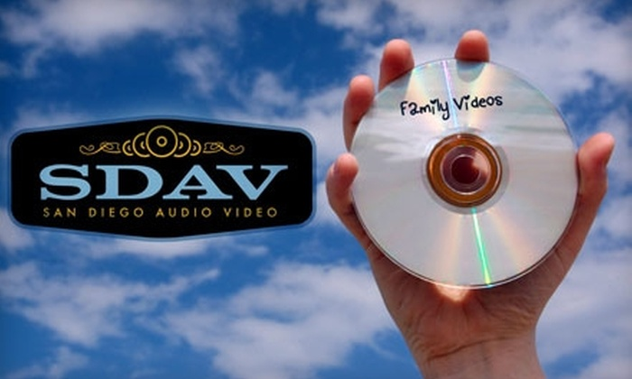 San Diego Audio Video - Kearny Mesa: $10 Transfer of Up to 120 Minutes of MiniDV or VHS Footage to DVD at San Diego Audio Video