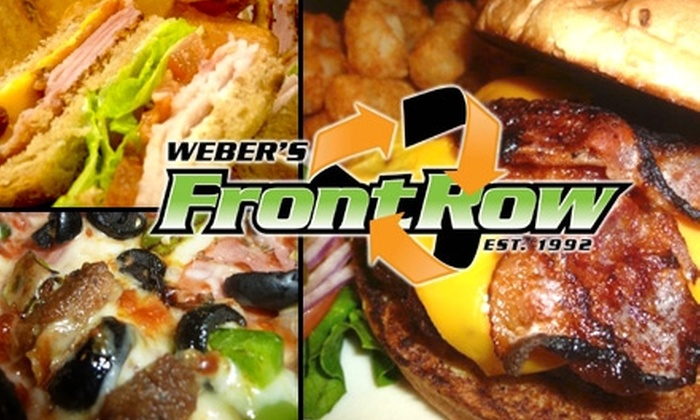 Webers Front Row - Webster Groves: $10 for $25 Worth of Pub Fare and Drinks at Weber's Front Row