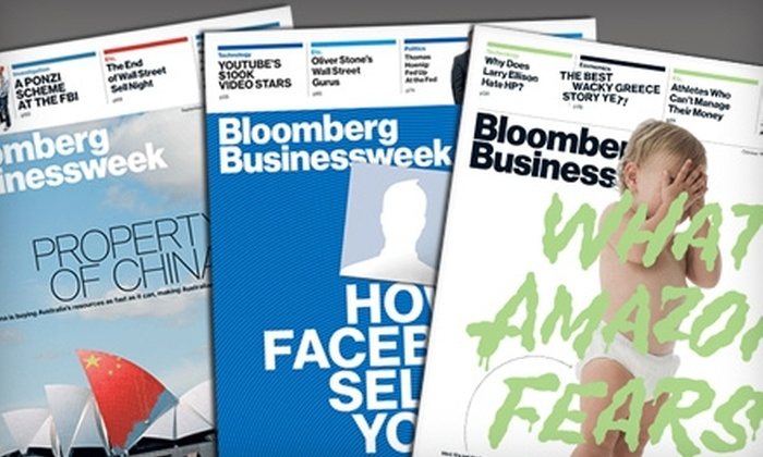 "Bloomberg Businessweek: $19 for 50 Issues of ""Bloomberg Businessweek"" ($40 Value)"