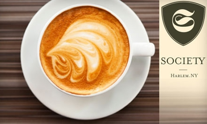 Society Coffee - Harlem: $10 for $20 Worth of Barista Beverages, Café Fare, and More at Society Coffee