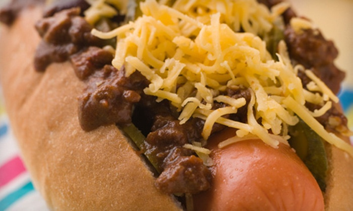 Mad Dogz - Comstock Park: Gourmet Hot Dogs and Soft Drinks or a 10-Dog Punch Card at Mad Dogz in Comstock Park (Up to 51% Off)