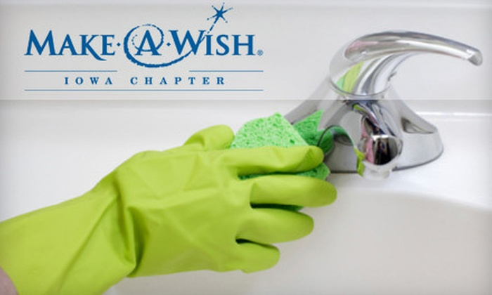 Clean It by More Than Just Windows - Des Moines: $61 for Four Hours of Housecleaning and $1 Donation to Make-A-Wish Foundation of Iowa from Clean It by More Than Just Windows ($120 Value)